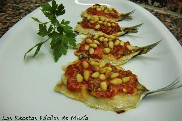 sardinas asadas con crema de piquillos receta sin gluten
