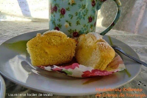 Magdalenas rellenas de Crema de Naranja Presentación