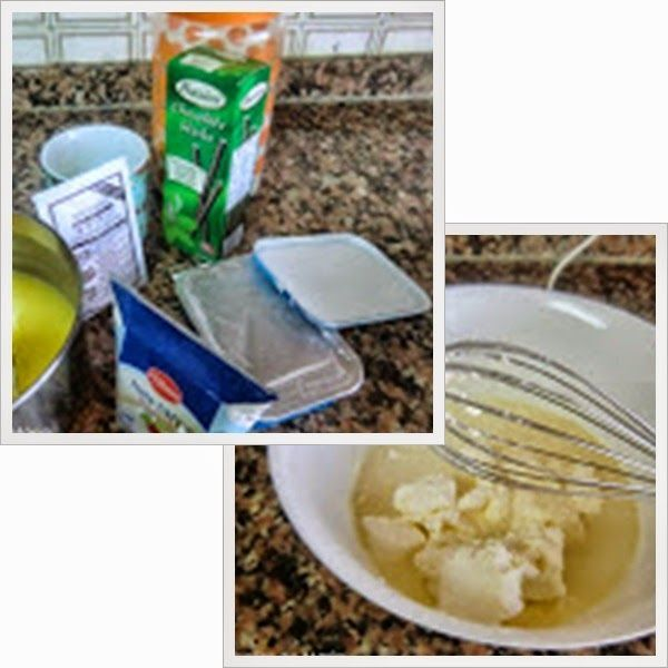 Tarta de Queso y Crema de Limón en Vasitos paso 2