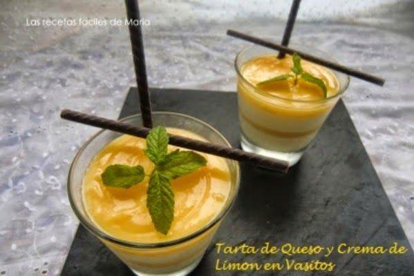 Tarta de Queso y Crema de Limón en Vasitos presentación