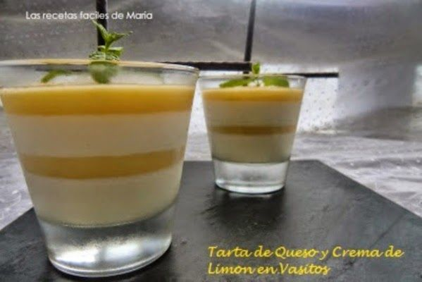 Tarta de Queso y Crema de Limón en Vasitos postre