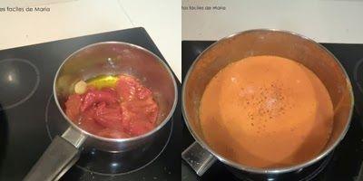 Salsa de pimientos rojos para involtini di vitello con ajos tiernos y salsa de pimientos