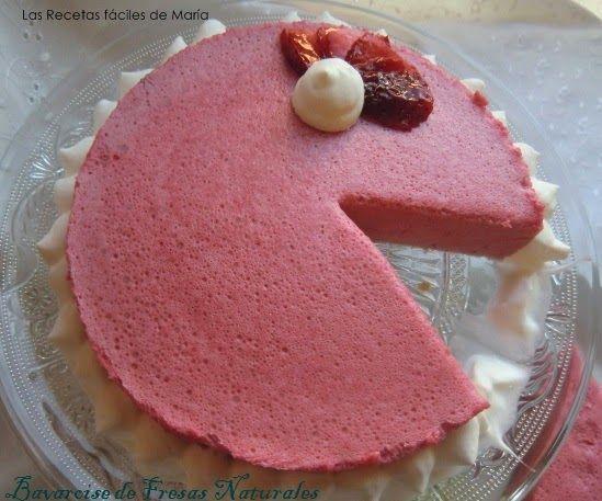 Bavaroise de Fresas Naturales tarta