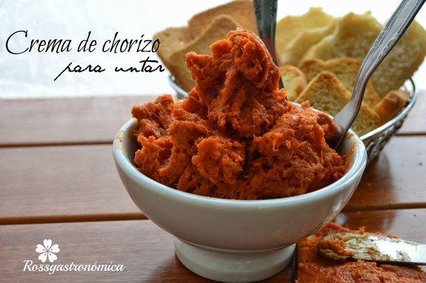 Crema de Chorizo, (Paté) para untar Rossgastronómica