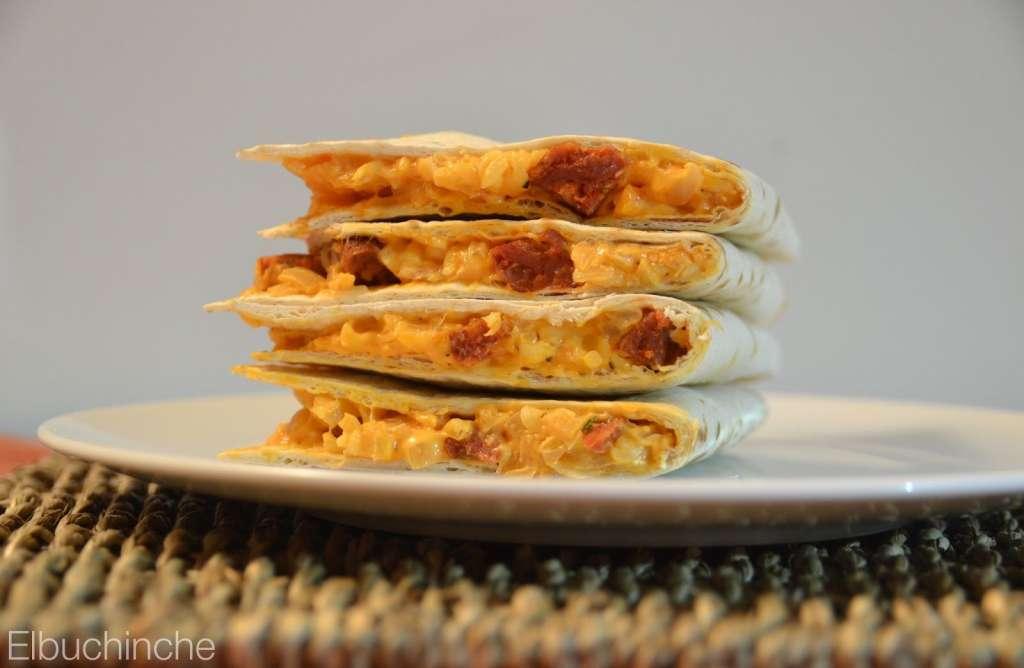 deliciosas Quesadillas de Chorizo El Buchinche