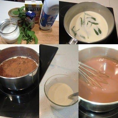 Como hacer las Natillas de Chocolate con Hierbabuena
