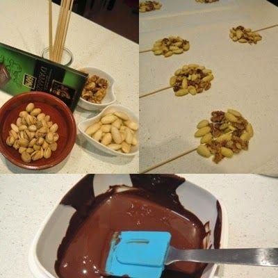 Como se hacen piruletas de chocolate crujiente