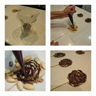 Como se hacen piruletas de chocolate paso 2