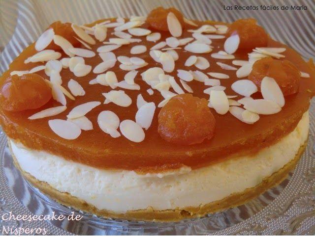 Cheesecake de Nísperos Tarta de queso presentación
