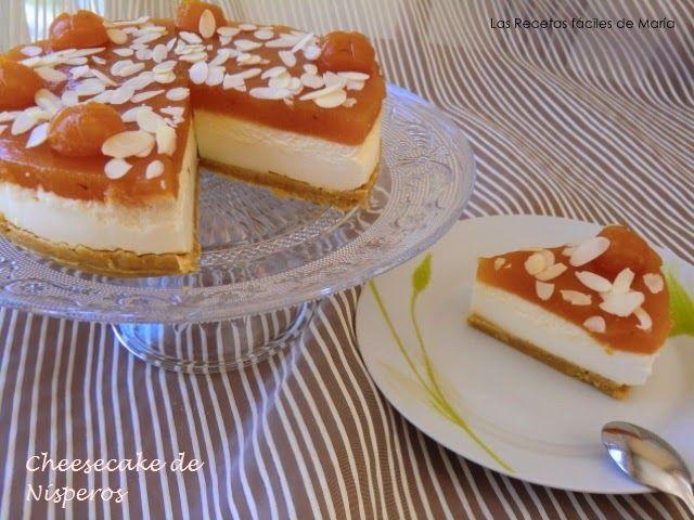 receta Cheesecake tarta de queso con nísperos como se hace