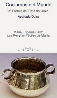 Ganadora Reto Cocineros del Mundo Junio 2.014