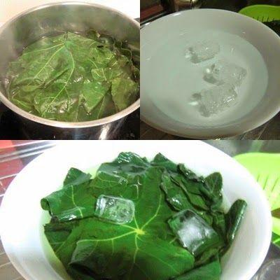 Como cocer hojas de parra para sarmas Armenios o Dolmas Griegos