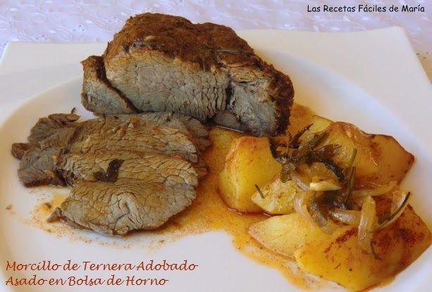 morcillo de ternera adobado asado en bolsa de horno carnes y asados