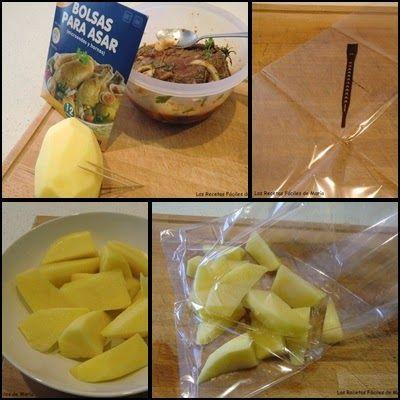 morcillo adobado asado en bolsa de horno patatas asadas paso 3