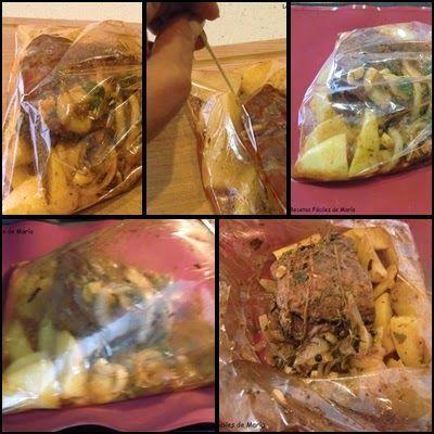 morcillo adobado asado en bolsa de horno paso 4