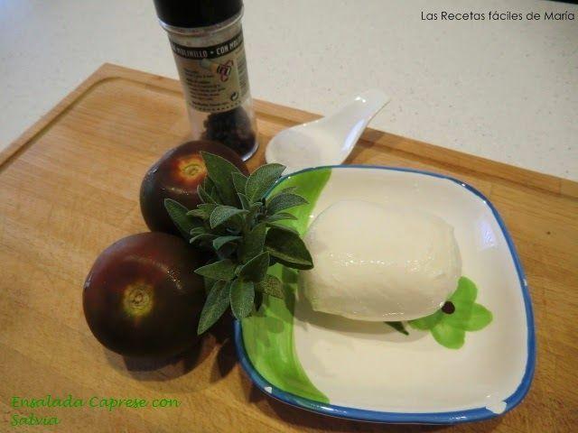 Ingredientes Ensalada Caprese con Salvia