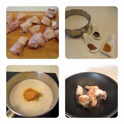 pollo al curry con coco y jengibre paso 1