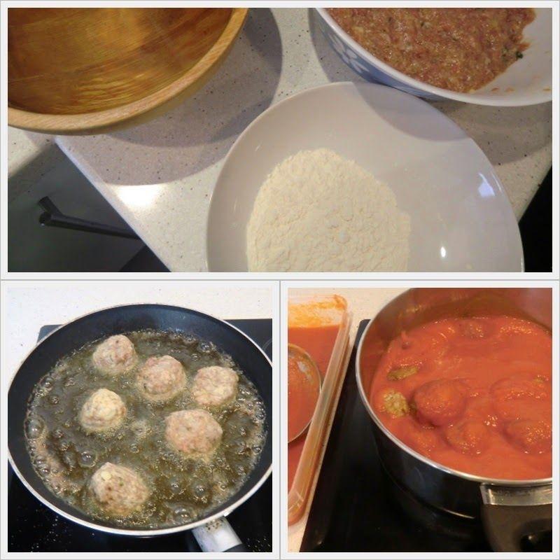 Albóndigas con Tomate, Receta Fácil cómo se hace 2