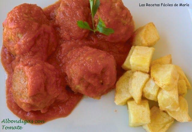 Albóndigas con Tomate, Receta Fácil Presentación