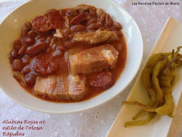 Las recetas f ciles de mar aalubias rojas al estilo de for Como cocinar alubias blancas