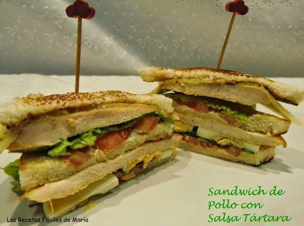 Sandwich de Pollo con Salsa Tártara