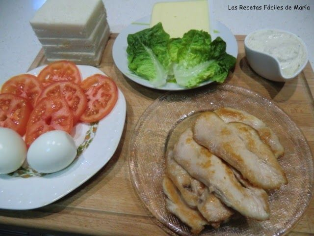 Sandwich de Pollo con Salsa Tártara ingredientes
