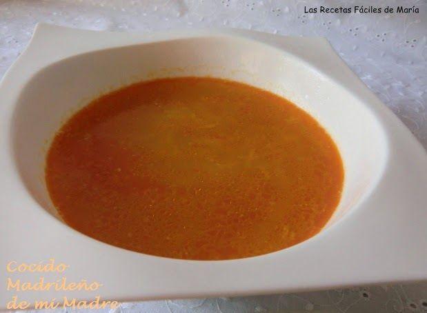 Sopa de Cocido Madrileño de mi Madre