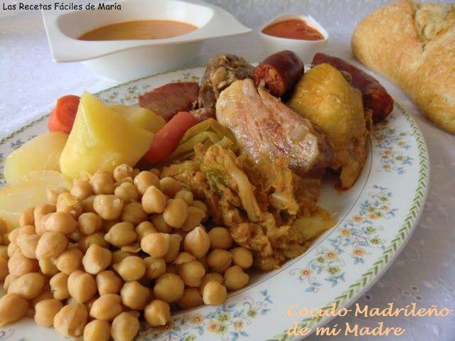 cocido madrileño, garbanzos de cocido, presentación de cocido madrileño