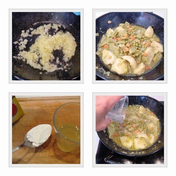 cómo se hace menestra sin gluten con huevo pôche