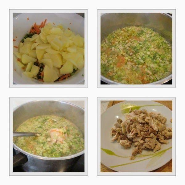 Sopa de Pollo con Verduras Receta Casera- Verduras y Pollo
