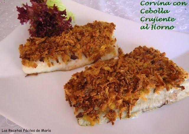 receta de corvina con cebolla crujiente al horno sin gluten
