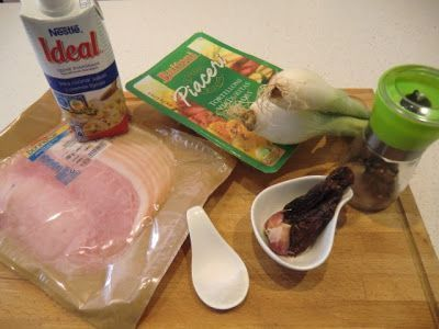 Ingredientes Tortelillinis con Salsa Ligera Jamón y Tomates Secos