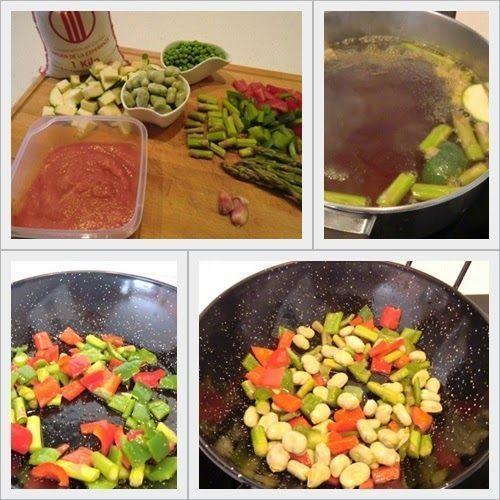 Ingredientes Paella de Arroz Bomba con Verduras