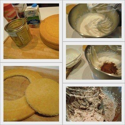 cómo se hace tarta de trufa y nata con ganache de chocolate paso 1