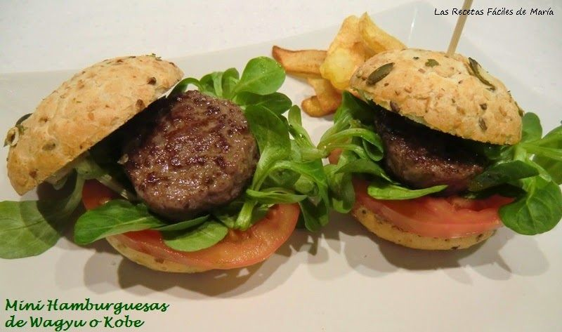 receta mini hamburguesa wagyu o kobe
