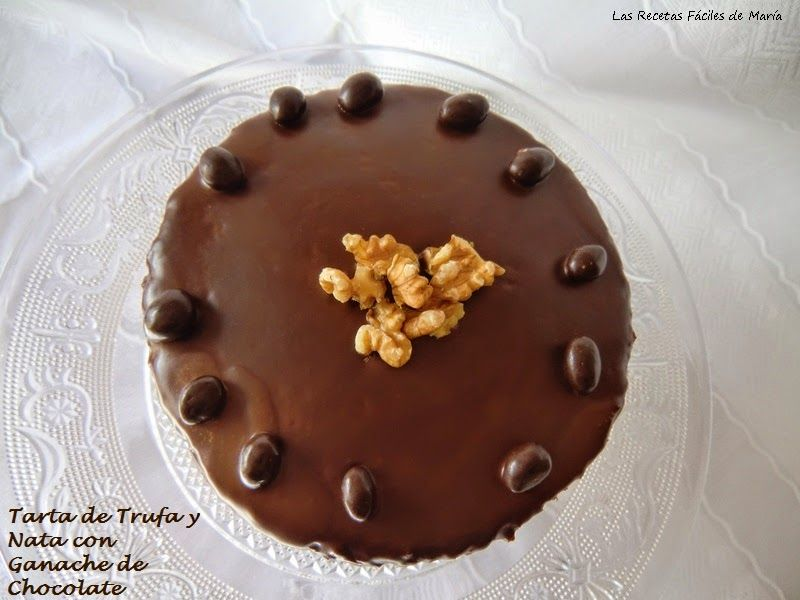 Tarta de Trufa y Nata con Ganache de Chocolate para San Valentín Presentación