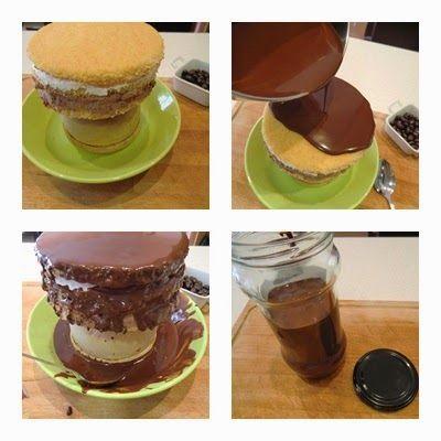 truco de ganache de chocolate para Tarta de Trufa y Nata con Ganache de chocolate para San Valentín