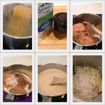 espaguetis con foie gras cómo se hacen