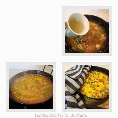 Caldo casero para arroz con costilla