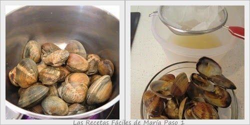 Receta de Sopa de Almejas,Clam Chowder Paso 1