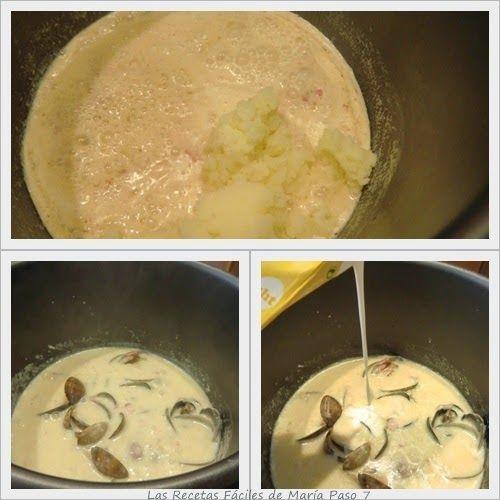 Receta de Sopa de Almejas, Clam Chowder en Olla GM paso 7