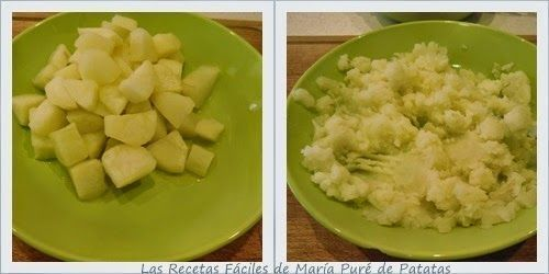 Puré de Patatas para Receta de Sopa de Almejas, Clam Chowder en Olla GM