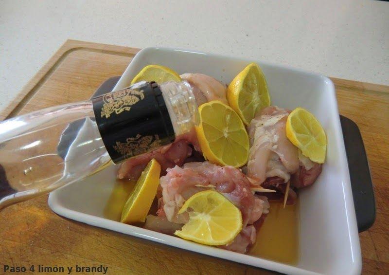Contramuslos de Pollo con Jamón al Limón
