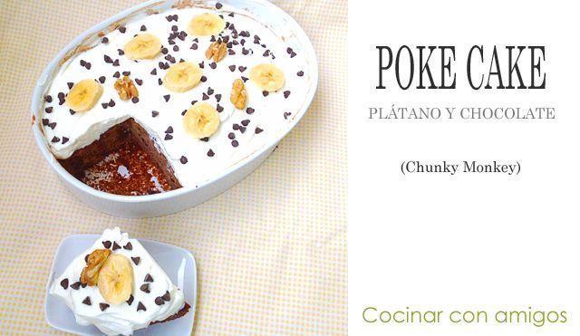 Poke Cake (Bizcocho de Plátano y nueces)