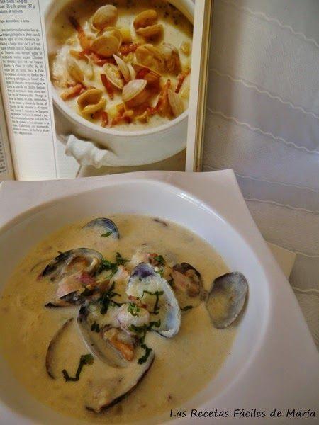 Receta de Sopa de Almejas, Clam Chowder en Olla GM