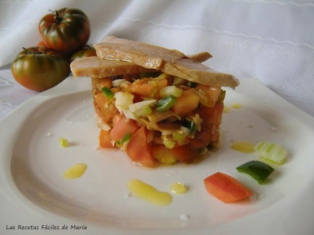 receta de Tomate Raf natural en Tartar