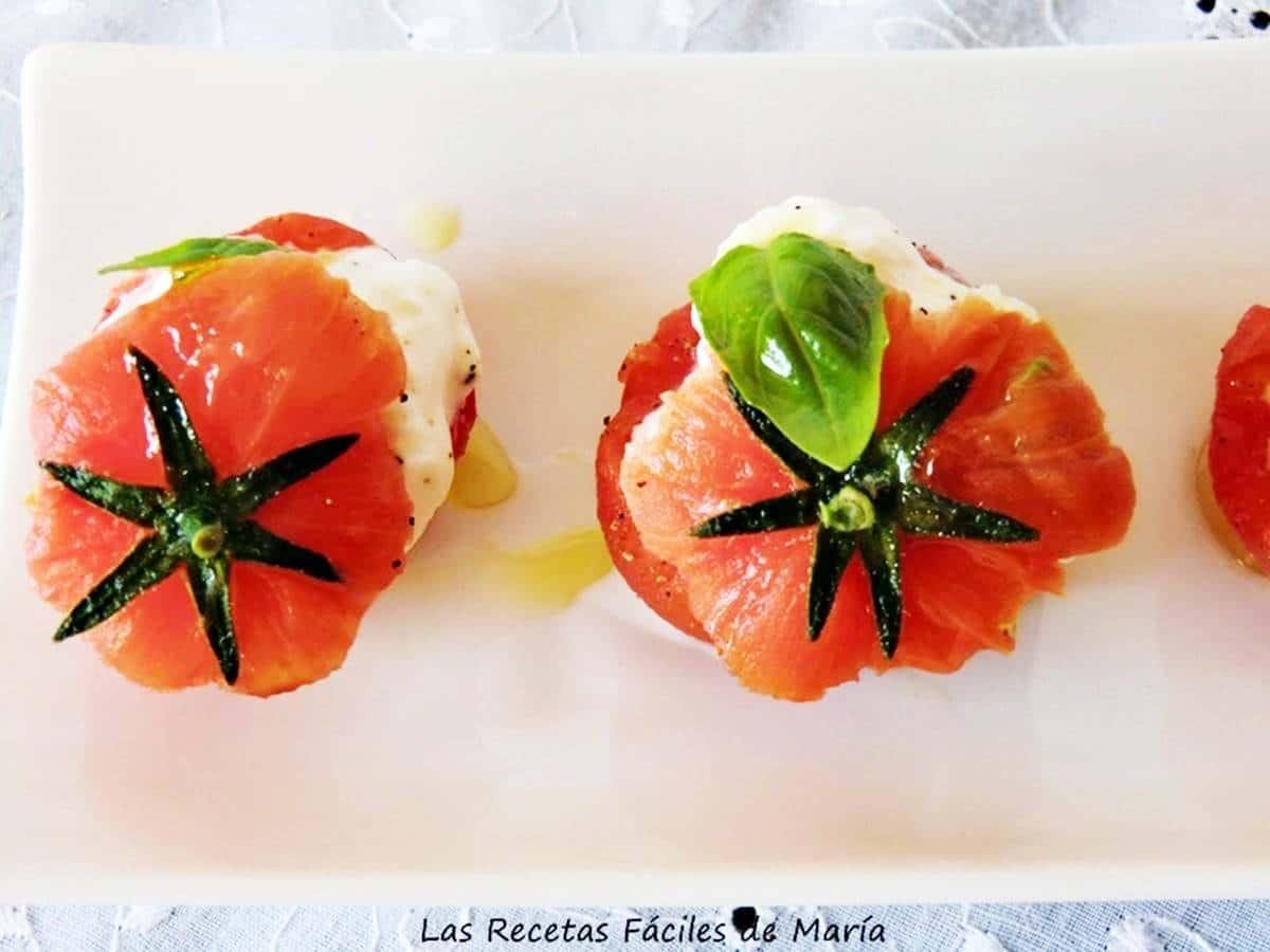 receta ensalada tomate y queso burrata
