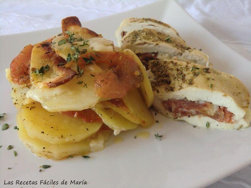Las recetas f ciles de mar apechuga de pollo al horno las - Como cocinar pollo al horno ...