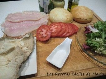 Ingredientes Montadito de pollo con setas ¿cuanto cuesta?