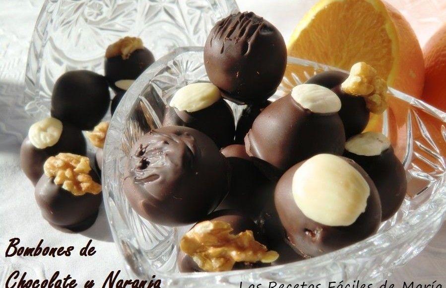 Felices Fiestas Recetas Especiales para Nochebuena y Navidad. Bombones de Chocolate y Naranja